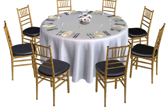 Party table png. Naperville rental