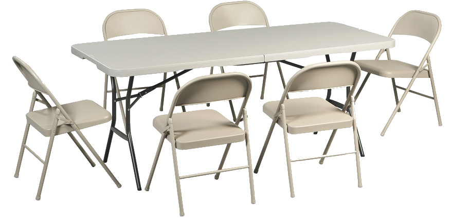 Party table png. Tables and chairs model