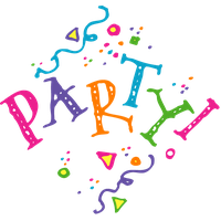 Party word png. Clipart images yo people