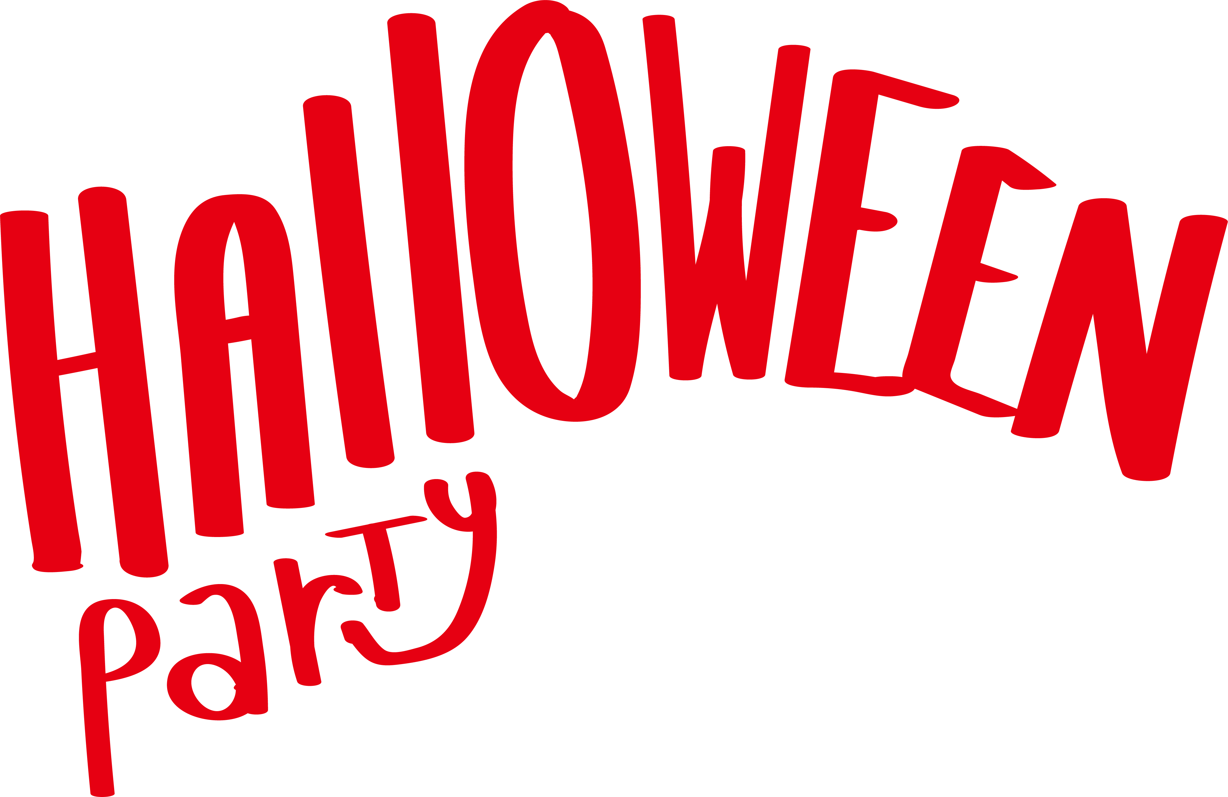 Party word png. Halloween microsoft clip art