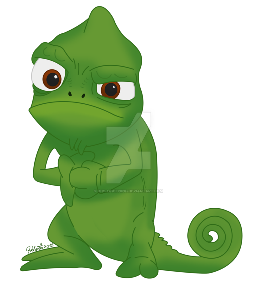 Pascal drawing. Chameleon svg library