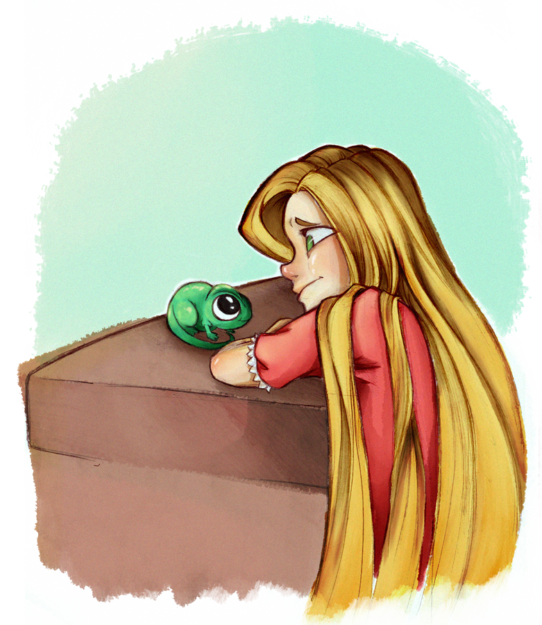 Pascal drawing rapunzel real life. Raqueltraveillustration and hope you