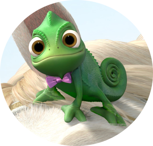 Chameleon from tangled s. Pascal drawing rapunzel real life clip art black and white