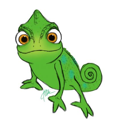 Pascal drawing outline. Chameleon svg library