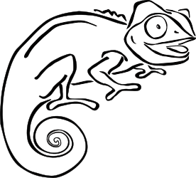 Pascal drawing realistic. Chameleon at getdrawings com