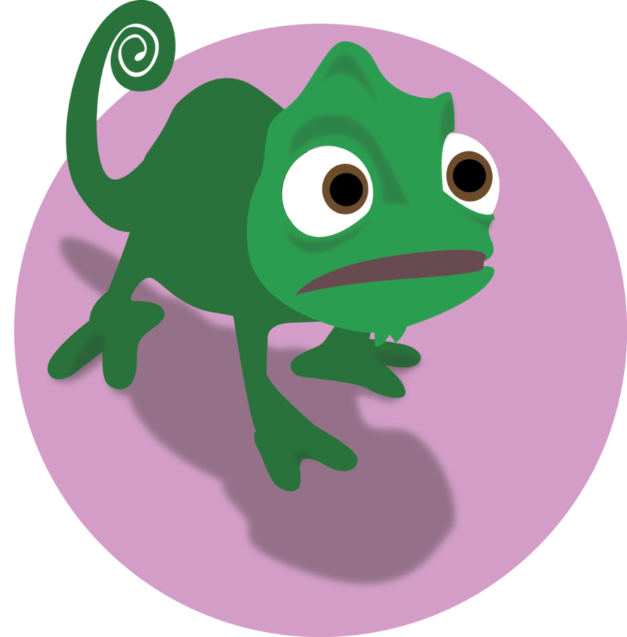 Pascal drawing tangled. Illustration by blindfaeth on