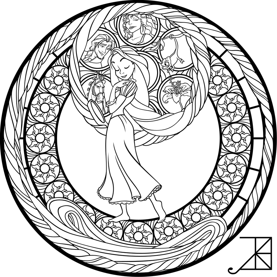 Slytherin drawing coloring page. Sg rapunzel by akili