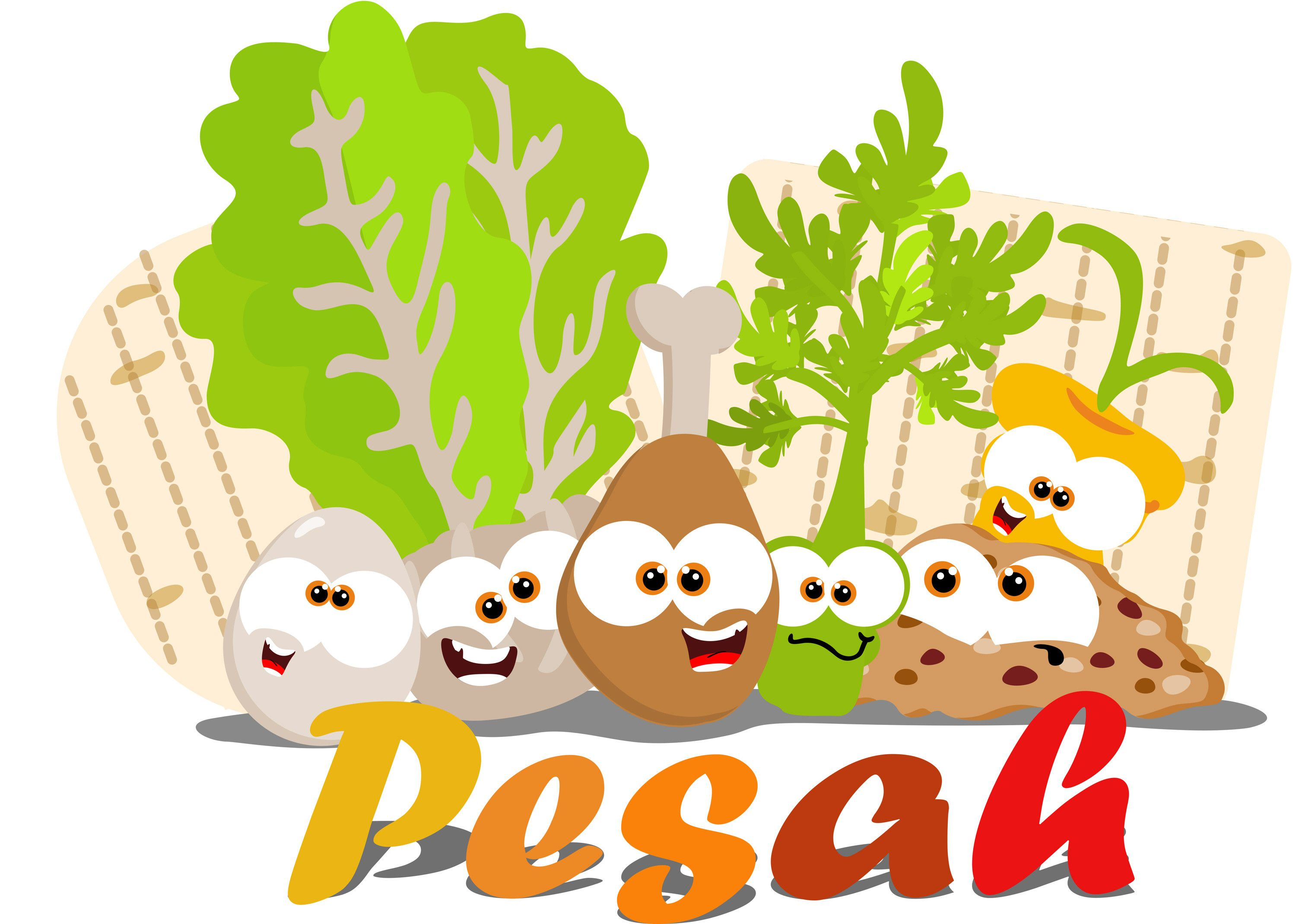 Passover clipart community meal. A playful seder kit