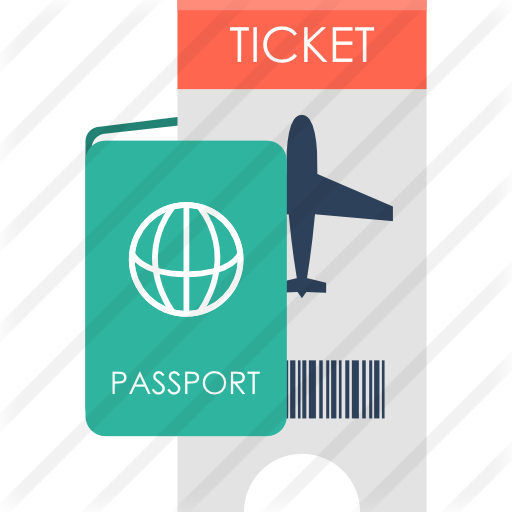 Passport clipart boarding pass. Free travel icons icon