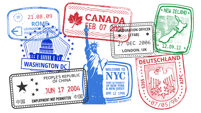 How To Double Your Passport Clipart Stamp