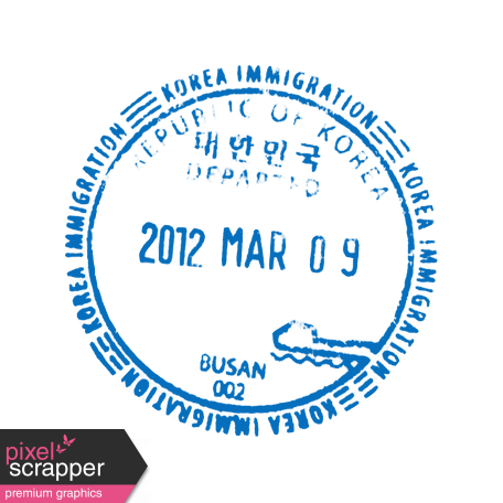 Travel stamp png. Passport template graphic by