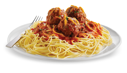 Pasta bowl png. Spaghetti and meatballs hd