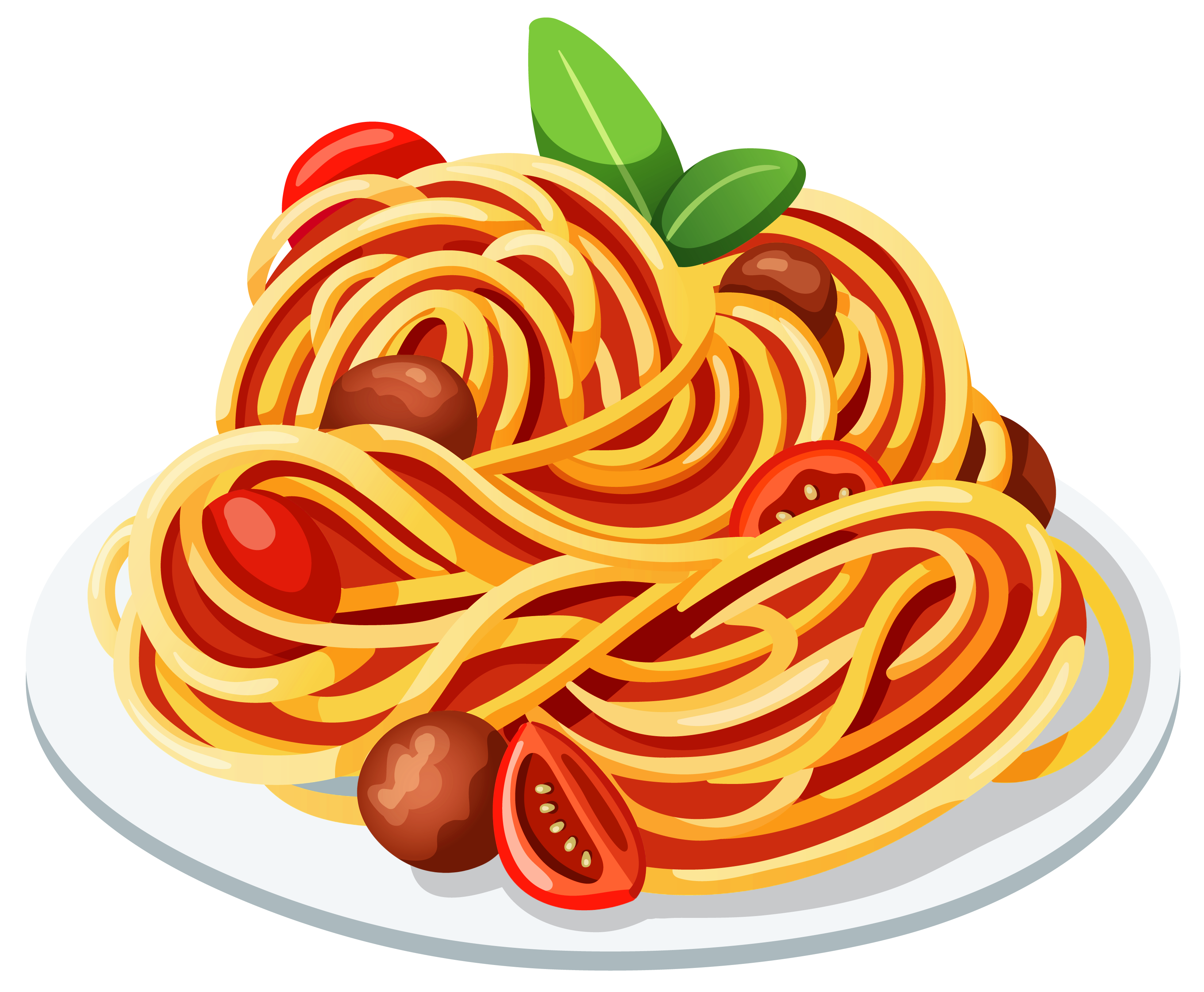 Plate of spaghetti png