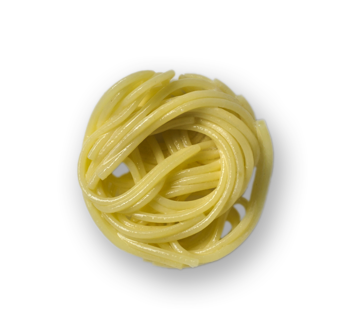 Pasta transparent cooked. More about nests ebrofrost