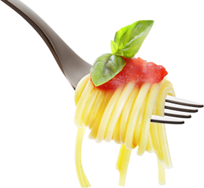 Pasta transparent fork. Welcome to al gusto