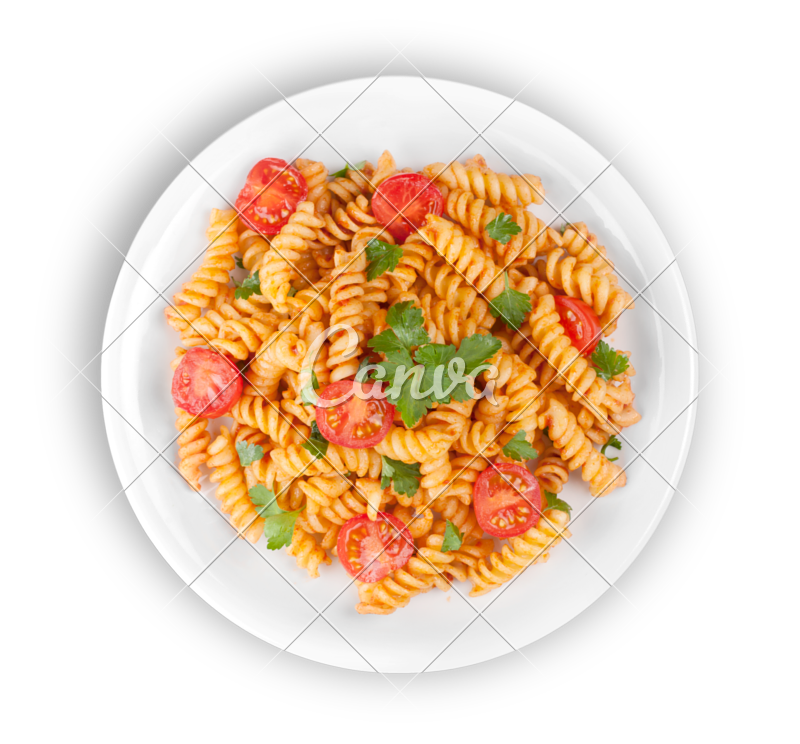 Pasta transparent pile. In a plate photos