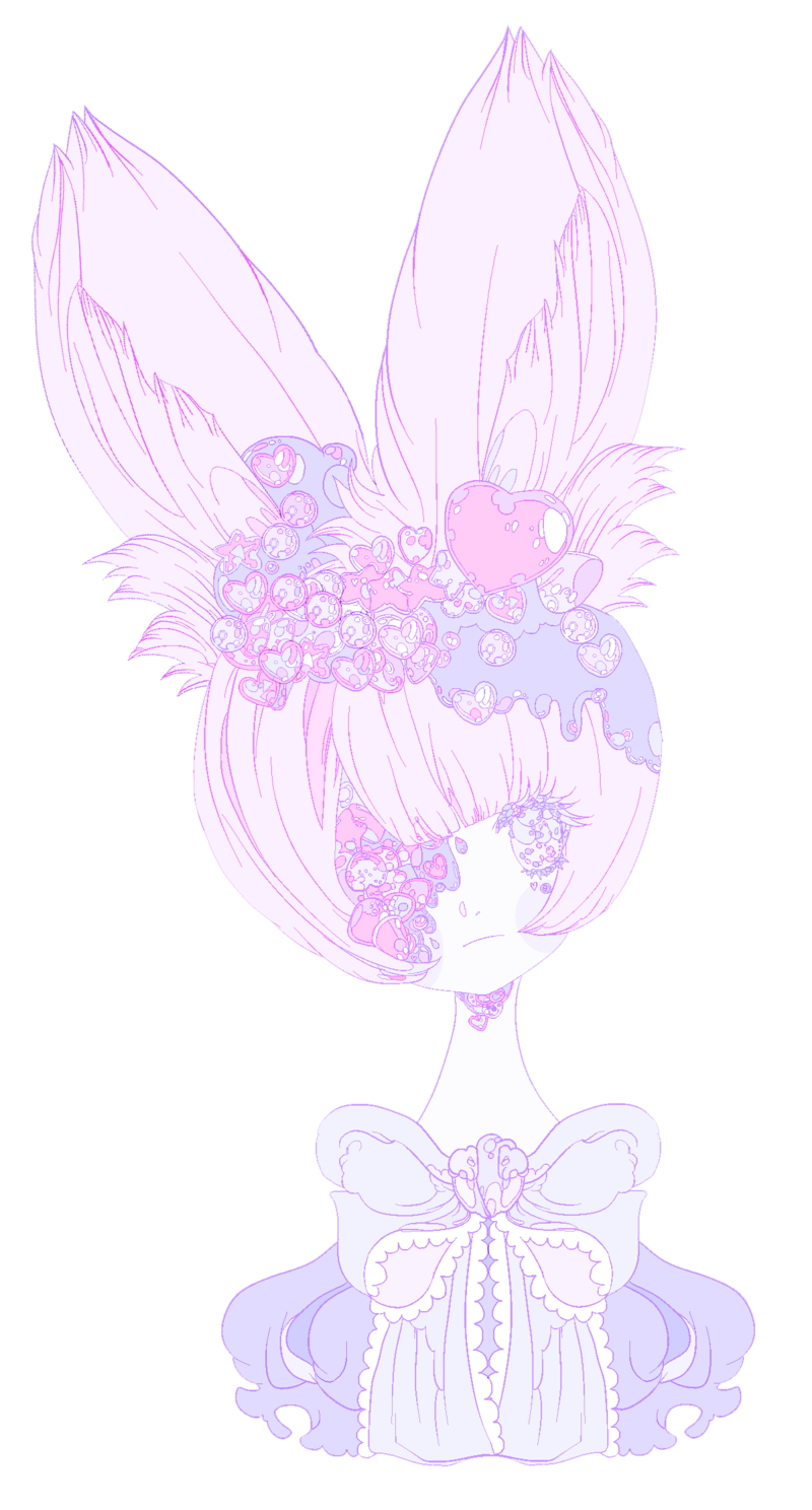 Pastel color png. Pale bunny by teresabunnies