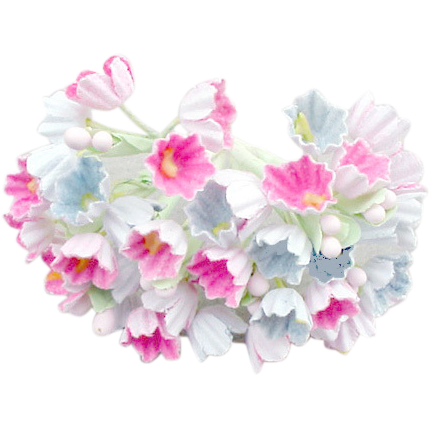 Pastel flower png. Paper flowers doll hat