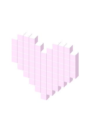 Heart, png pastel pink. Rainbow heart favicon view