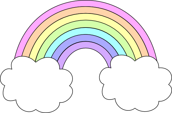 Pastel rainbow png. Clip art at clker