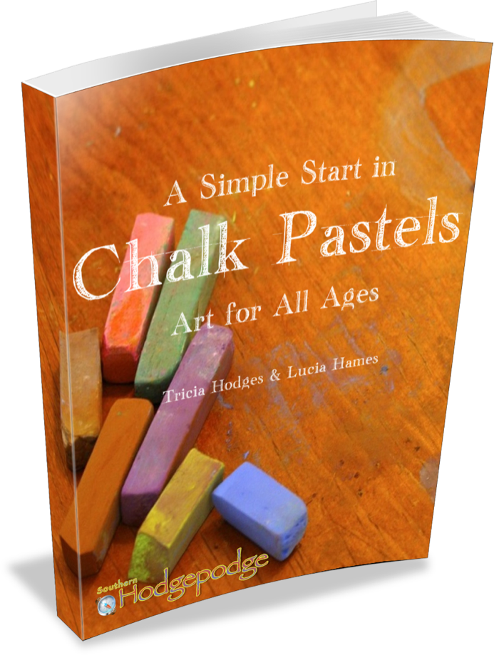 A start in chalk. Pastels drawing simple graphic freeuse