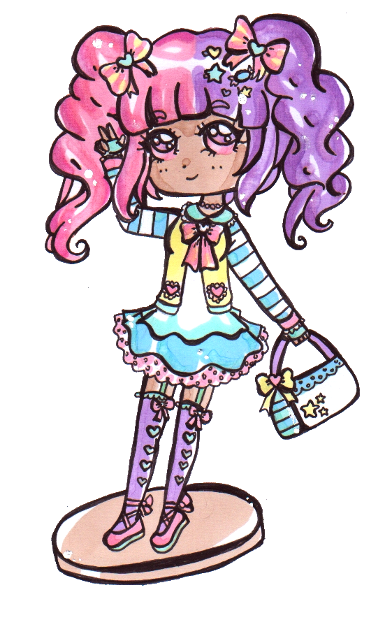 Pastels drawing fairy. Kei molly g by