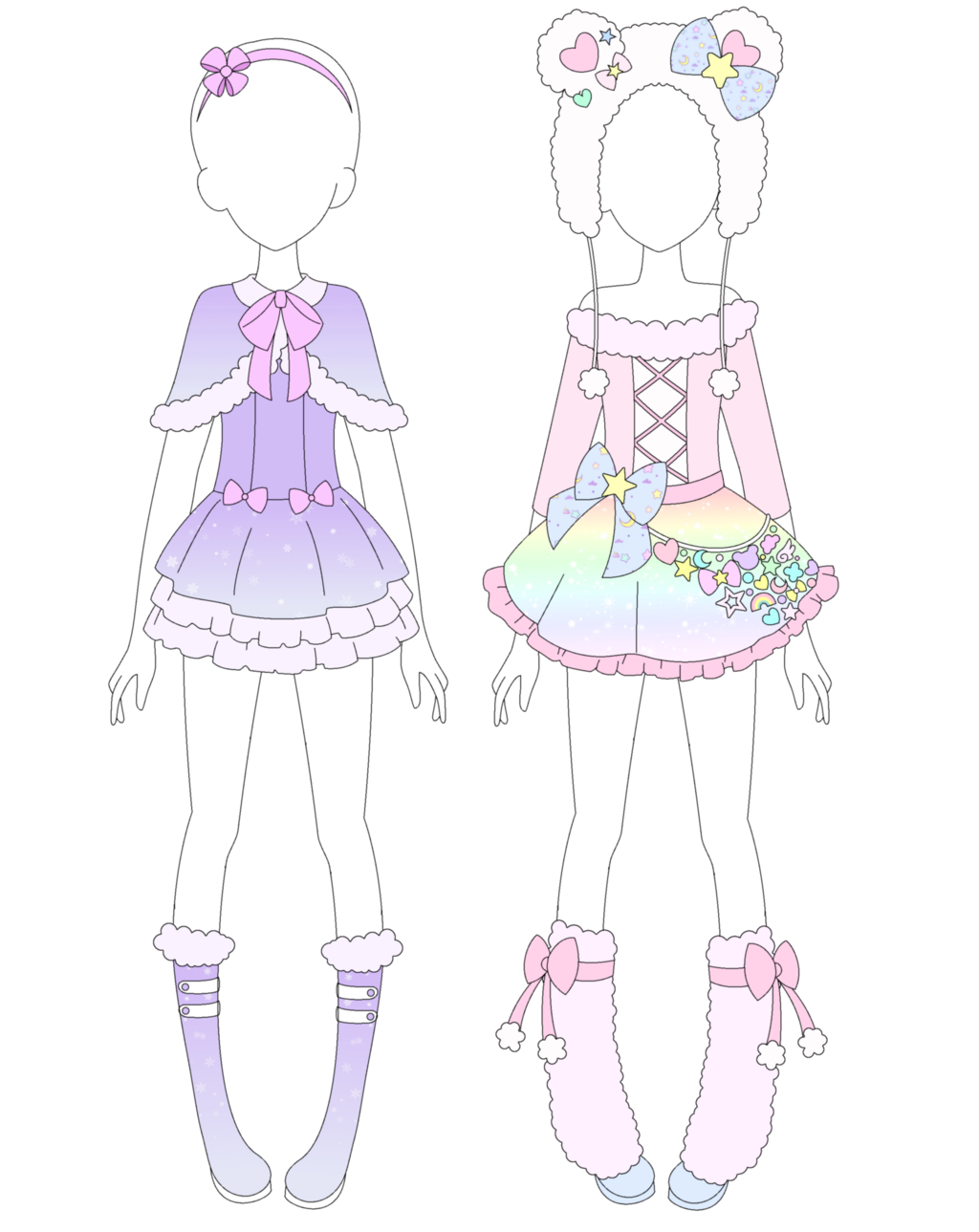 Pastels drawing fairy. Mra kei winter collection