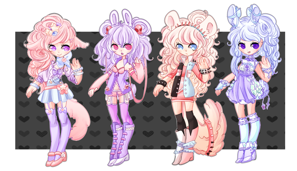 Drawing pastel fantasy. Set closed by pastelbits