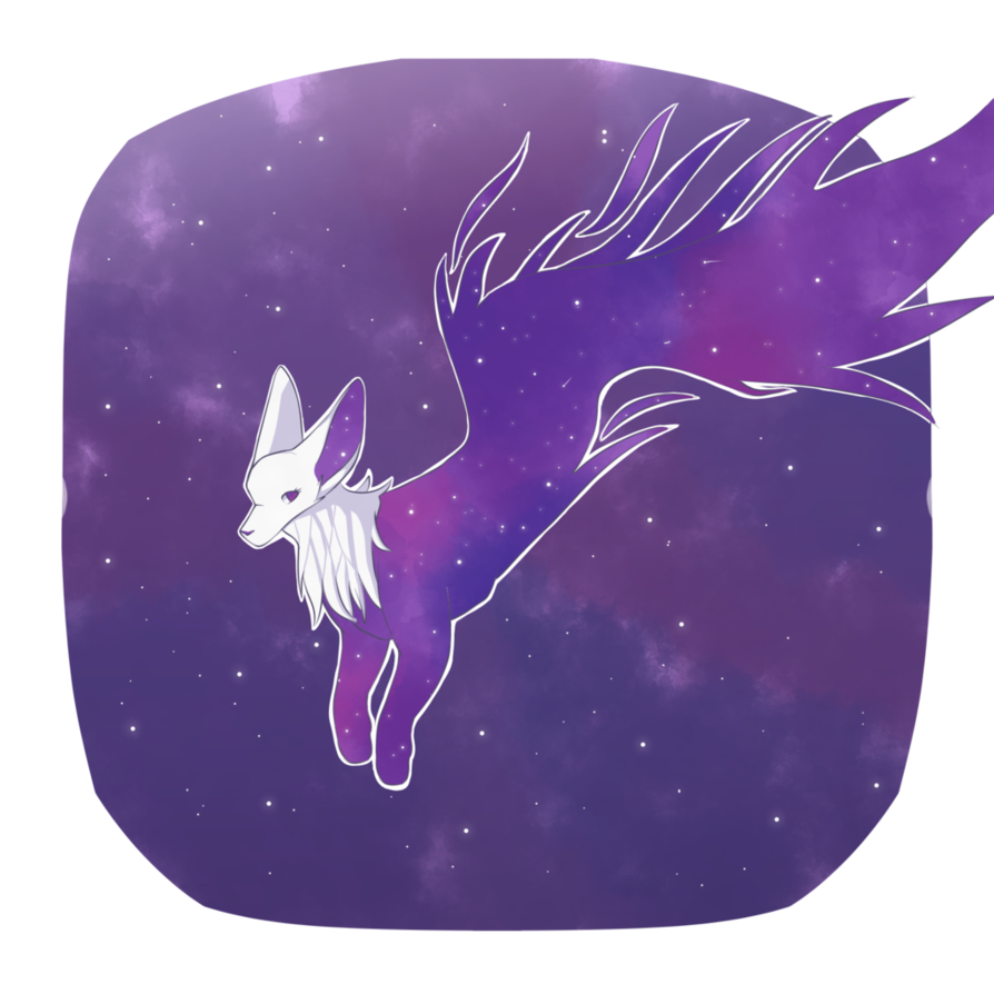 Pastels drawing galaxy. Fox by cactusfries on