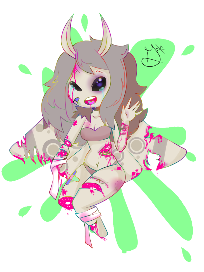 Pastels drawing gore. My oc maki candy