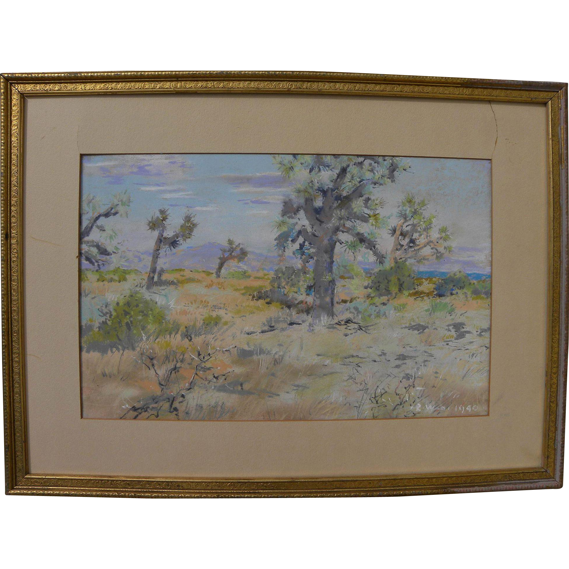 Pastels drawing impressionist. California plein air art