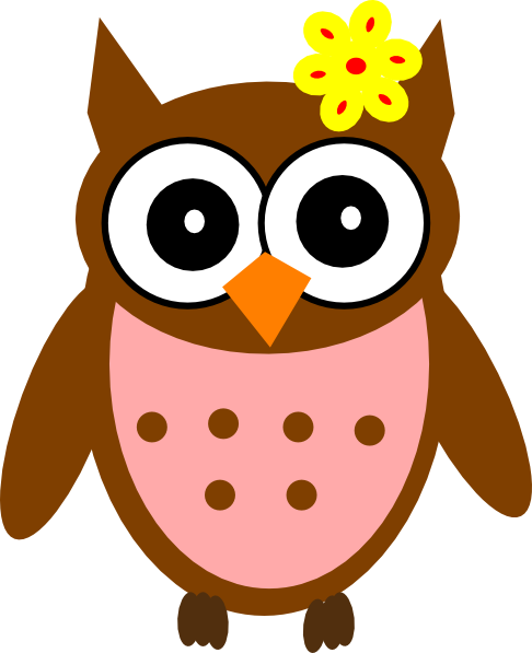 Pastels drawing owl. Baby shower clip art
