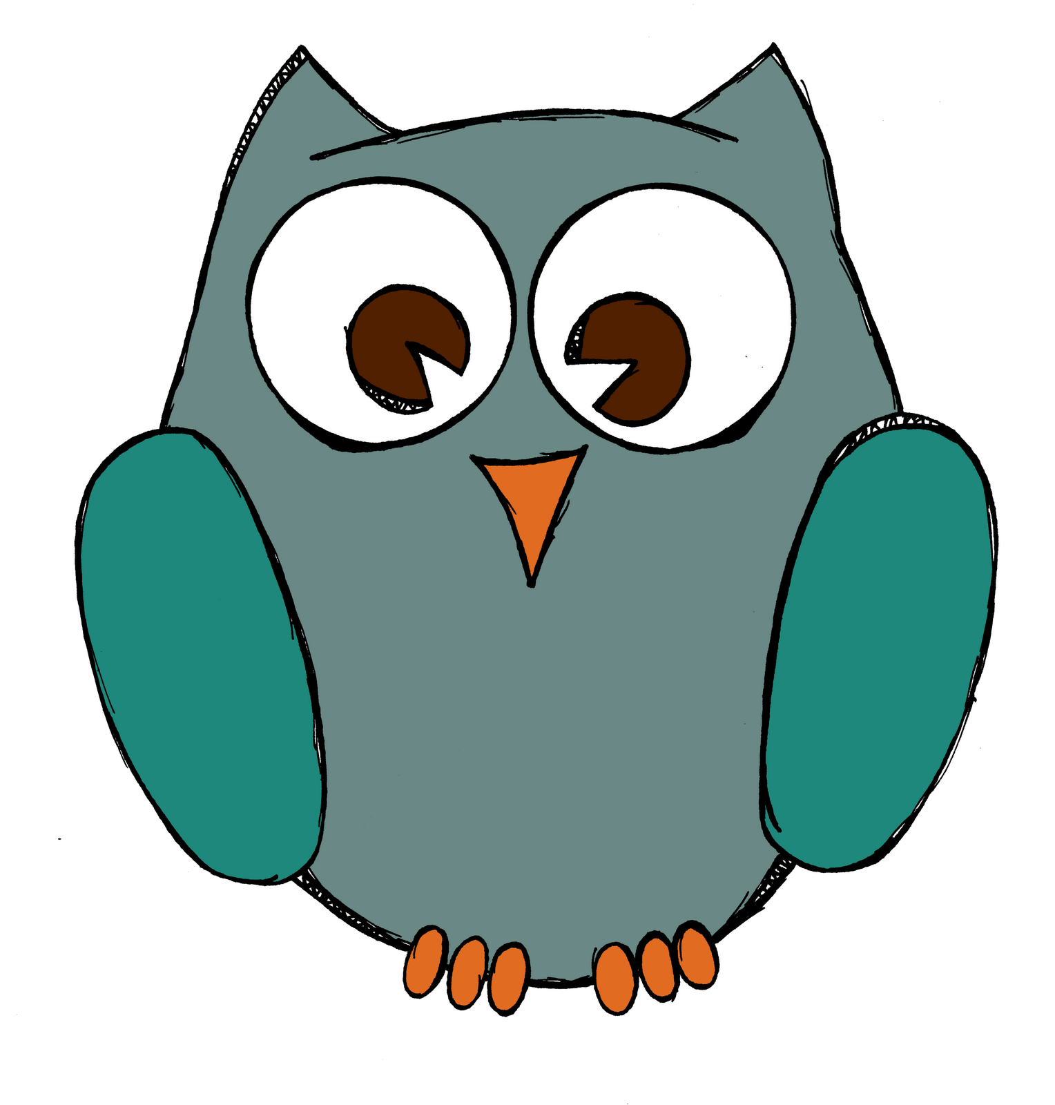 Pastels drawing owl. Simple drawings posted by