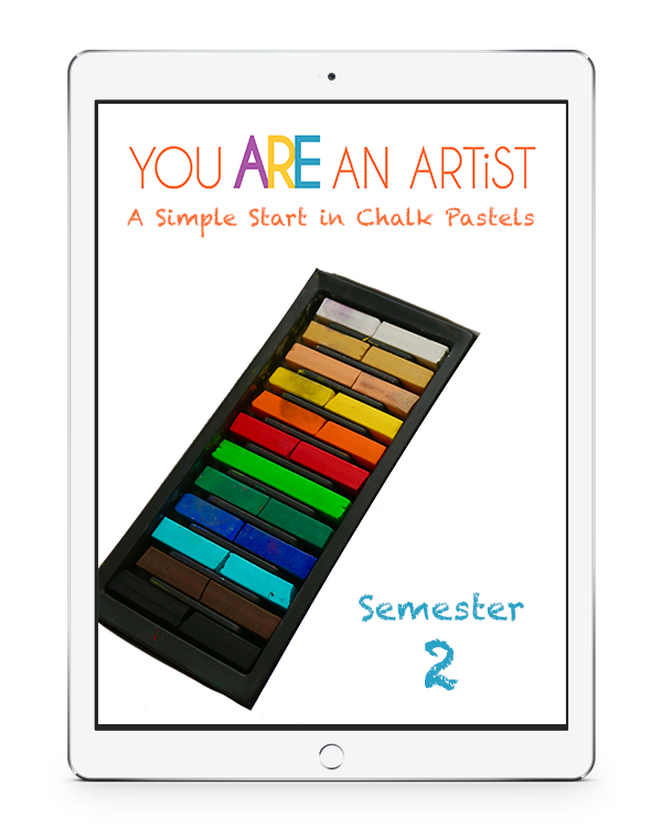 Pastels drawing simple. A start in chalk
