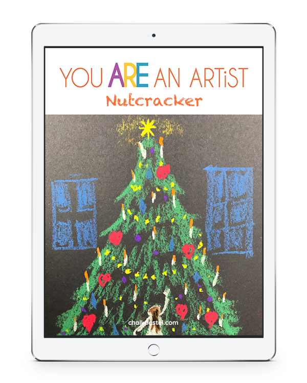 Pastels drawing simple. Nutcracker video art lessons