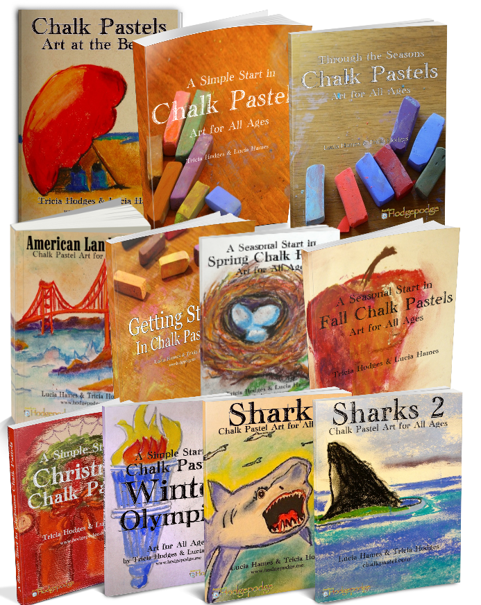 Art instruction and supplies. Pastels drawing simple library
