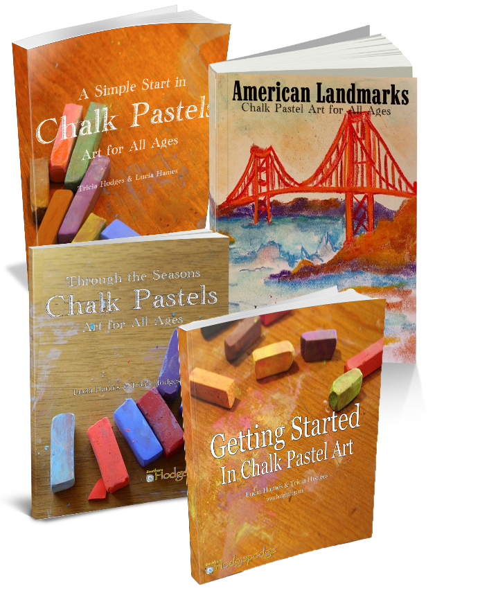 Chalk pastel art for. Pastels drawing simple clip library library