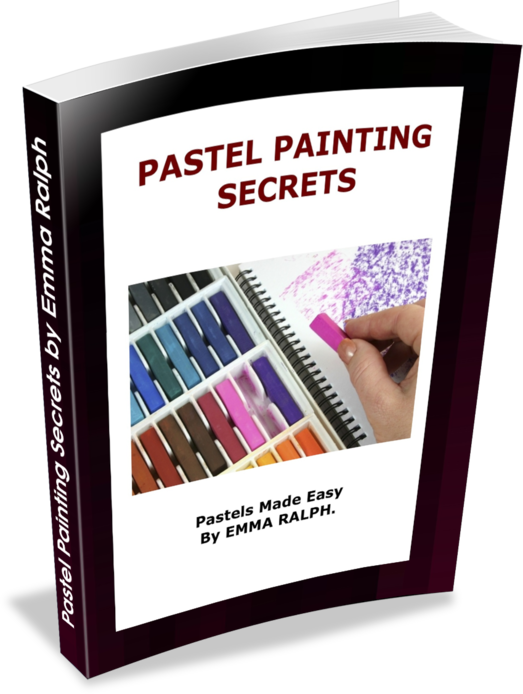 E book pastel painting. Pastels drawing simple banner royalty free