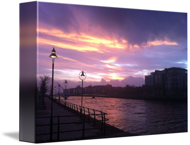 Pastels drawing sunrise. Dublin i by michael