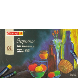 Pastels drawing. Camlin supreme oil pastel