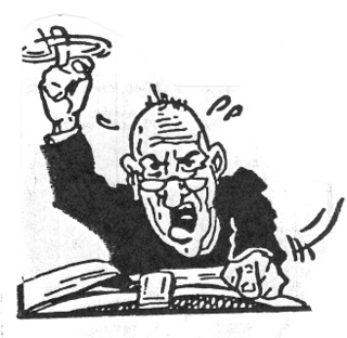 Pastor clipart irate. The angry preacher lisa
