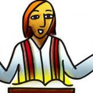 Pastor clipart mean person. A young male s