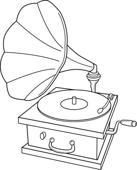 Pastry drawing artistic. Record player clip art