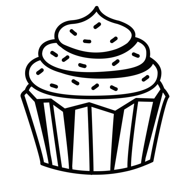 Cup a cakes . Shopkin drawing black and white picture black and white stock