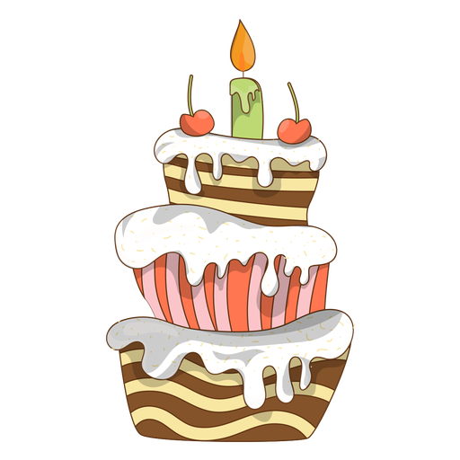 Vector cupcakes cherry. Birthday cake cartoon transparent