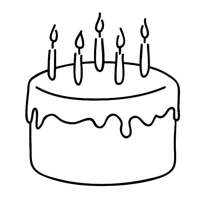 Anniversary drawing easy. Collection of cake