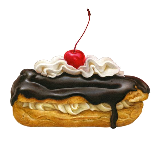 Pastry drawing eclair. Gateaux tubes artworks pinterest