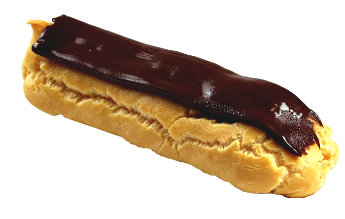 Pastry drawing eclair. Custard eclairs alessi manufacturing