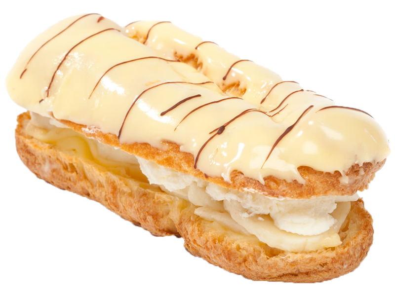 Pastry drawing eclair. Machinery for the production