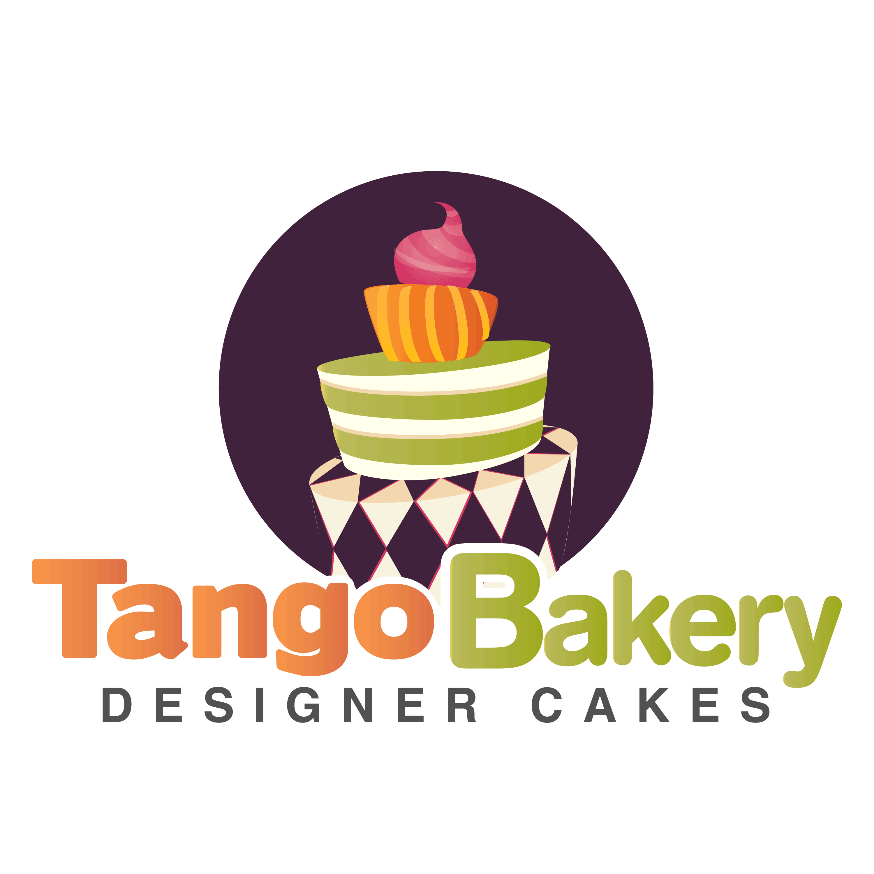 Pastry drawing poster. Tango bakery copyright latino